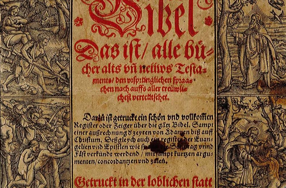 BIBLE DE ZURICH REMISE À WITTENBERG, LA CITÉ DE MARTIN LUTHER